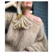 Pull en laine mohair beige